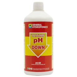 GHE PH DOWN (-) UNICO (GROW/BLOOM) CON STABILIZZATORE DI CALCIO 0.5L
