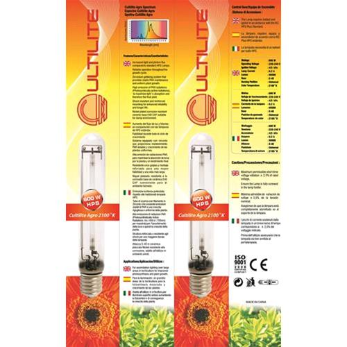CULTILITE - BULBO HPS SON-T - AGRO - 600 W - 95.000 LM