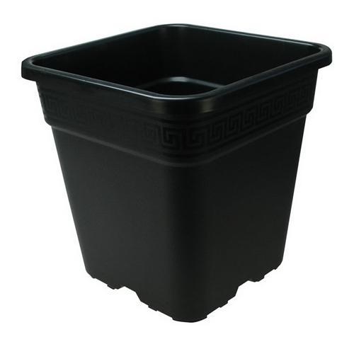 Vasi Neri In Plastica.Vaso Quadrato In Plastica Nero Piu Resistente 25x25x25 5 11 Litri